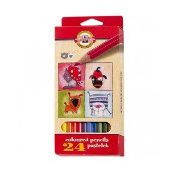 Цветни моливи KOH-I-NOOR, 24 броя, дълги image