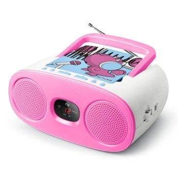 Радио Muse M-20 KDG, CD player, AUX, захранване посредством разкачащ се кабел или 6х 1,5V батерии, преносимо, розово image