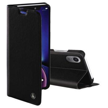 Калъф за Apple iPhone XR, полиуретан, тип Flip Wallet, Hama Slim Pro, черен image