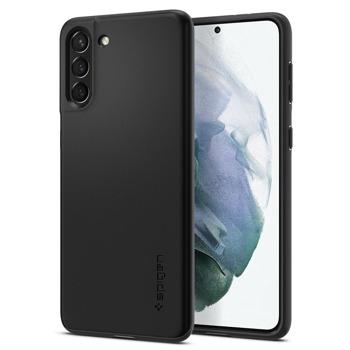 Калъф за Samsung Galaxy S21+, поликарбонатов, Spigen Thin Fit ACS02382, матиран, черен image