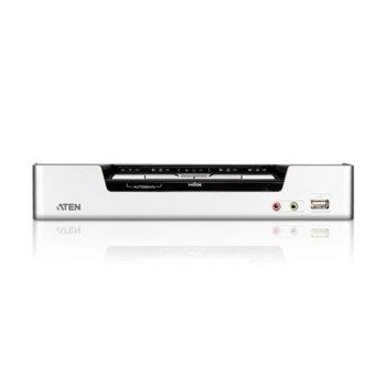 KVMP суич Aten CS1794, от USB(ж) към 5x HDMI(ж), 2x USB Type A, 2x USB Type B Female, 12x 3.5 mm, 4x RJ-45, 1920 x 1080 @ 60Hz image