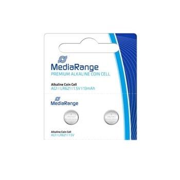 Батерии алкални MediaRange Premium Coin Cells MRBAT110 AG1 (LR621), 1.5V, 13mAh, 1бр. image