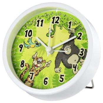 Часовник HAMA Jungle 186375, детски, кварцов механизъм, стенен, зелено-бял image