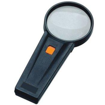 Лупа Levenhuk Zeno Handy ZH31, 4x увеличение, 65 mm, осветление захранвано чрез АА батерии, пластмасова image