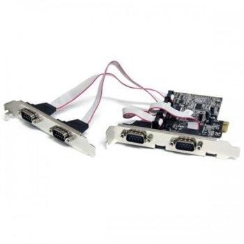 Контролер PCI-E към 4 Serial port product