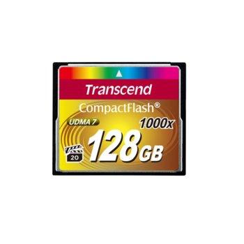 Карта памет 128GB CompactFlash, Transcend Ultimate, 1000x, скорост на четене 160MB/s, скорост на запис 120MB/s image
