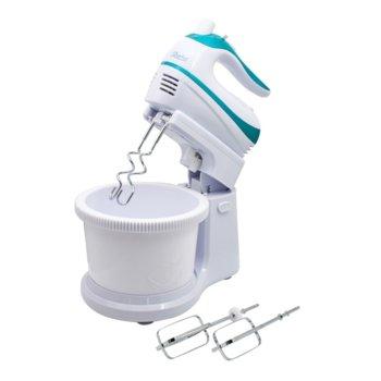 Миксер Zephyr ZP 1115 A, 500 W, 5 степени на работа, с турбо, 2.6 л. обем на купата, бъркалки за тесто, бял image