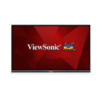 """Публичен дисплей ViewSonic IFP6550-2, тъч дисплей, 65"""" (165.1 cm) Ultra HD, HDMI, VGA, USB, RS232, RJ-45 image"""