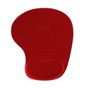 Подложка за мишка Vakoss 190X226, червен, с гел, 190 x 226 mm image