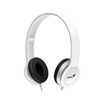 Слушалки Genius HS-M430, микрофон, управление на звука, 150 Hz – 20 K Hz, бели image