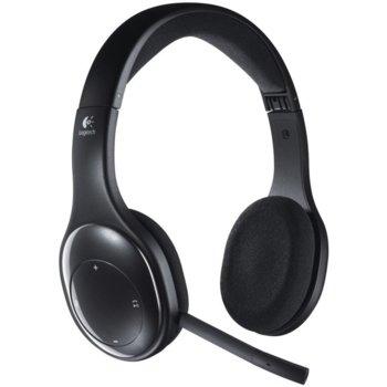 Слушалки Logitech Wireless Headset H800, безжични, микрофон, Bluetooth, черни image