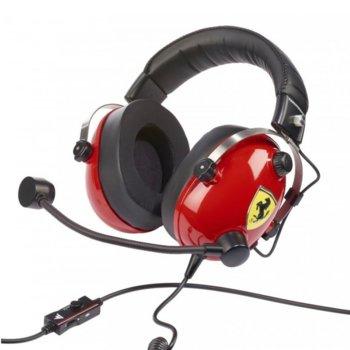 Слушалки T.Racing Scuderia Ferrari Edition (4060105), микрофон, 3.5mm жак, за PC/PS4/XBOXONE, гейминг, червени image