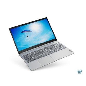 "Лаптоп Lenovo ThinkBook 15-IIL (20SM002LBM_5WS0A23781)(сив), двуядрен Ice Lake Intel Core i3-1005G1 1.2/3.4 GHz, 15.6"" (39.62 cm) Full HD IPS Anti-glare Display, (HDMI), 8GB DDR4, 256GB SSD, 1x USB 3.1 Type-C, Windows 10 Pro image"