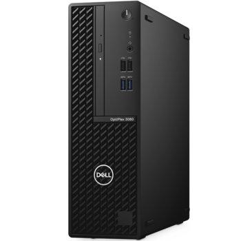 Настолен компютър Dell OptiPlex 3080 SFF (DTO3080SFFI3101054G1T_WIN-14), четириядрен Comet Lake Intel Core i3-10105 3.7/4.4 GHz, 4GB DDR4, 1TB HDD, 4x USB 3.2, Windows 10 Pro image