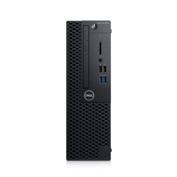 Настолен компютър Dell OptiPlex 3070 SFF (N514O3070SFF_UBU-14), шестядрен Coffee Lake Intel Core i5-9500 3.0/4.4 GHz, 4GB DDR4, 1TB HDD, 4x USB 3.1, клавиатура и мишка, Linux image