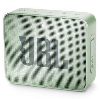 Тонколона JBL GO 2, 1.0, 3W RMS, 3.5mm jack/Bluetooth, светлозелена, до 5 часа работа, IPX7 image
