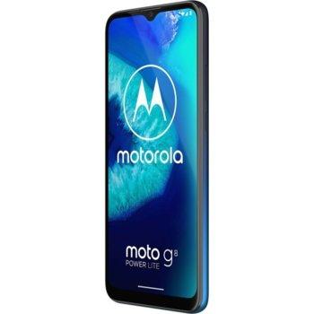 "Смартфон Motorola Moto G8 Power lite (син), поддържа 2 sim карти, 6.5"" (16.51 cm) IPS LCD дисплей, осемядрен Helio P35 2.3 GHz, 4GB RAM, 64GB Flash памет (+ microSD слот), 16.0 + 2.0 + 2.0 & 8.0 MP, Android 10 image"