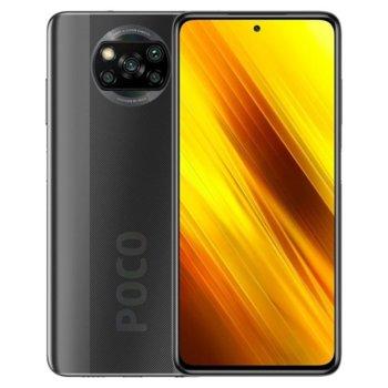 "Смартфон Xiaomi Poco X3 NFC (сив), поддържа 2 sim карти, 6.67"" (16.94 cm) IPS 120Hz HDR10 дисплей, осемядрен Snapdragon 732G 2.3GHz, 6GB RAM, 64GB Flash памет (+ microSD слот), 64.0 + 13.0 + 2.0 + 2.0 & Mpix камера image"