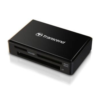 Четец за карта Transcend RDF8K2, USB 3.1 Gen 1/Micro USB, SD/microSD/CompactFlash, черен image