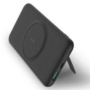 Външна батерия/power bank/ Uniq Hyde Air Click (UNIQ-HYDEAIRC-DGREY), 10 000mAh, черна, поддържа безжично зареждане, MagSafe, 1x USB-C, 1x USB-A image
