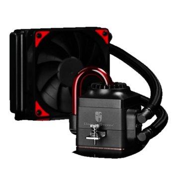 Водно охлаждане за процесор DeepCool CAPTAIN 120 EX, съвместимост с Intel Socket 150W LGA-2011-V3/LGA2011/LGA1366/LGA1156/LGA1155/LGA1151/LGA1150, AMD Socket 140W FM2+/FM2/FM1/AM3+/AM3/AM2+/AM2 image