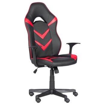 Геймърски стол стол Carmen 7531, до 130кг. макс. тегло, еко кожа, полипропиленова база, Tilt tension механизъм, регулируем люлеещ механизъм, газов амортисьор, черно-червен image