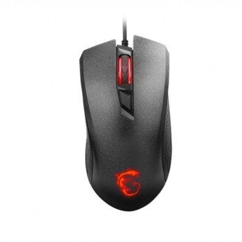 Мишка MSI Clutch GM10, оптична(2400dpi), USB, гейминг, черна image