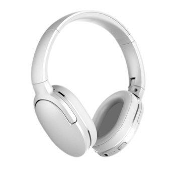 Слушалки Baseus Encok Wireless D02, безжични (Bluetooth 5.0), микрофон, контрол на звука, сгъваеми, 3.5mm жак, бели image