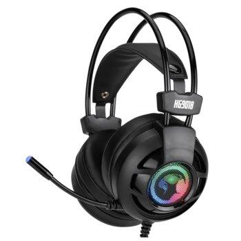 Слушалки Marvo HG9018, микрофон, гейминг, RGB, 7.1, вибрация, черни image