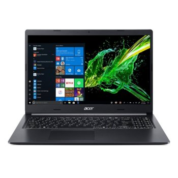 "Лаптоп Acer Aspire 5 A515-54G-74SZ (NX.HN0EX.005), четириядрен Comet Lake Intel Core i7-10510U 1.8/4.9 GHz, 15.6"" (39.62 cm) Full HD IPS Anti-Glare Display & GF MX250 2GB, (HDMI), 8GB DDR4, 1TB HDD, 1x USB-C, Linux image"