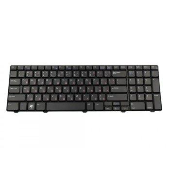 Клавиатура за лаптоп Dell, съвместима със серия Vostro 3700, черна, US/UK, с кирилица image