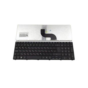 Клавиатура за Acer Aspire 5742 5251 5551 5553 5741ZG 5745PG 7745 eMachines E440, UK, кирилизирана, черна image