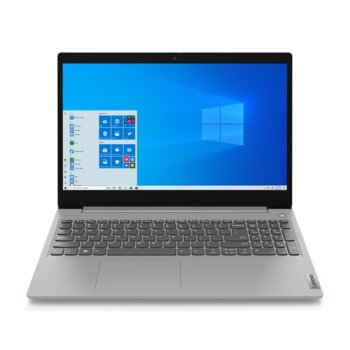 "Лаптоп Lenovo IdeaPad 3 15IML05 (81WB00KSBM)(сив), двуядрен Comet Lake Intel Pentium 6405U 2.40 GHz, 15.6"" (39.62 cm) Full HD TN Anti-Glare Display, (HDMI), 4GB DDR4, 1TB HDD, 2x USB 3.1, No OS  image"