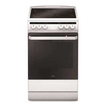 Готварска печка Amica 508CE2.30EHP(W), ток, клас А, 65 л. обем, 4 нагревателни зони, 8 функции на фурната, бял image
