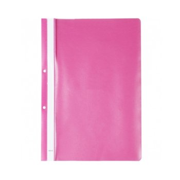 PVC папка Lux, перфорация, розова, A4 image