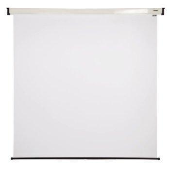 Екран, Hama механичен за стена 200x150 cm, 16:9, с черна лента  image