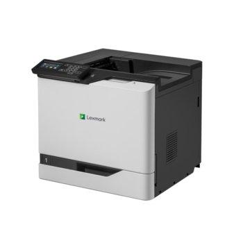 Лазерен принтер Lexmark CS820de, цветен, 1200x1200 dpi, 57/57стр/мин, LAN, USB image