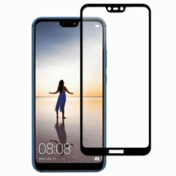 Протектор от закалено стъкло /Tempered Glass/ за Huawei Y6 2019, черна рамка image