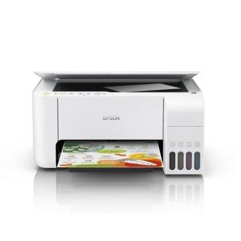 Мултифункционално мастиленоструйно устройство Epson EcoTank L3156 WiFi MFP, цветен принтер/копир/скенер, 5760 x 1440 dpi, 33 стр./мин, Wi-Fi, USB, A4 image