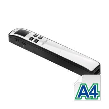 """Преносим скенер Avision MiWand 2 WiFi, 1200 dpi, A4 за 1.6 sec, 1.8"""" (4.57 cm) цветен LCD дисплей, USB, microSD слот, бял image"""