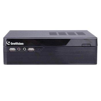 IP видеорекордер GeoVision GV-SNVR0400F, 4 канала, H.265/H.264, 1x SATA III, 4x USB, 1x RJ-45 100Mbps, HDMI image