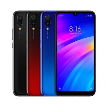 "Смартфон Xiaomi Redmi 7 Global Version (Черен), поддържа 2 sim карти, 6.26"" (15.90cm) IPS LCD дисплей, осемядрен Snapdragon 632 1.8 GHz, 3GB RAM, 32GB Flash памет, 12MP & 8MP Mpix camera, MIUI10, 180g image"