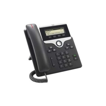 "VoIP телефон Cisco IP Phone 7811, 3.5"" (8.89 cm) 396×162pix чернобял дисплей, 2x LAN100 Base-TX, PoE, черен image"