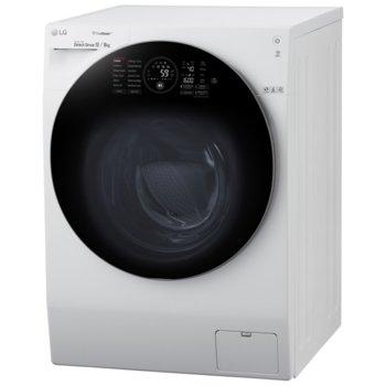 Перална със сушилня LG FH6G1BCH2N, клас A, 12 кг. капацитет на пералня/ 8кг на сушилня, 1600 оборота, свободностояща, 60 cm ширина, двойно(горно и предно) зареждане, TRUESTEAM™ технология, 6 MOTION технология, Wi-Fi, бяла image