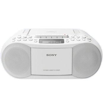 CD радиокасетофон Sony CFD-S70, 2x1.7W, CD, MP3, AM/FM радио, бял image