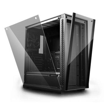 Кутия DeepCool MATREXX 70, ATX, EATX, mATX, mini-ITX, 2x USB 3.0, прозорец, без захранване image