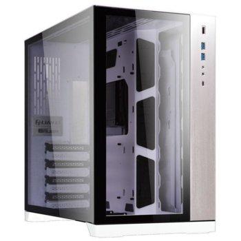 Кутия Lian Li PC-011 Dynamic GELI-808, EATX/ATX/Micro-ATX/Mini-ITX, 2x USB 3.0, 1x USB Type-C, прозорец, сребриста, без захранване image