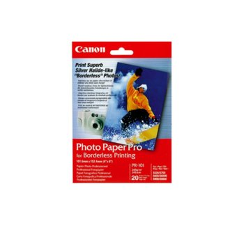 Фотохартия Canon PR-101, 10x15 cm., гланцирана, 245 g/m2, 20 листа image