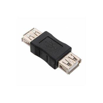 Преходник SBOX AD.USB-F/F, USB A(ж) към USB A(ж), черен image