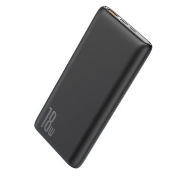 Bъншна батерия /power bank/ Baseus Bipow Black (PPDML-01), 10 000mAh, черна, 1x USB A, 1x USB Micro, 1x USB C image